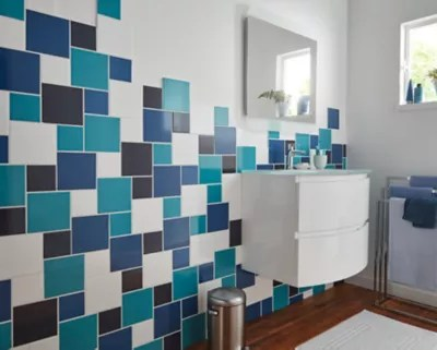 carrelage mur bleu touareg 10 x 10 cm glossy