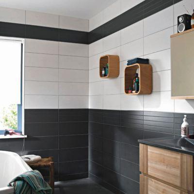 carrelage mur gris anthracite effet bois 20 x 50 cm ema