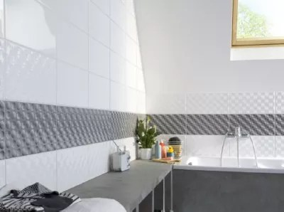 carrelage mur mosaique blanc 20 x 40 cm brenta vendu au carton
