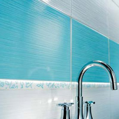 carrelage mur turquoise 25 x 40 cm rigato