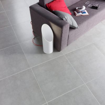 Carrelage Sol Et Mur Gris 60 X 60 Cm Louvio Vendu Au Carton Castorama