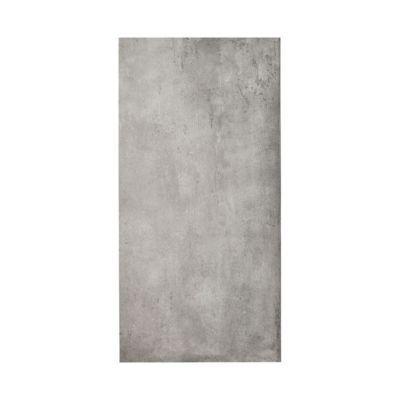 carrelage sol et mur gris effet beton 25 x 50 cm container