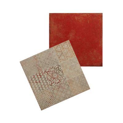 carrelage sol et mur rouge 45 x 45 cm antico vendu au carton