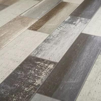 Carrelage Sol Gris 15 X 60 Cm Worn Wood Castorama