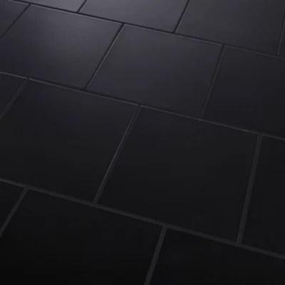 carrelage sol noir 33 x 33 cm pescaro