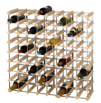 casier 72 bouteilles en bois et metal galvanise