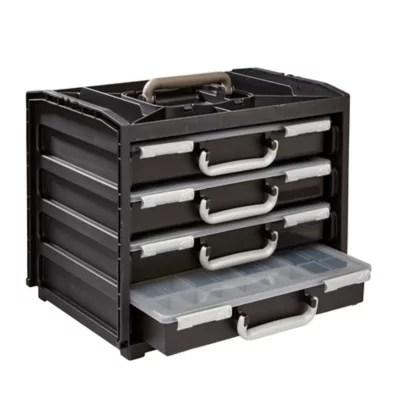 casier de rangement racco plastique 4 tiroirs