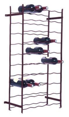 casier simple 50 bouteilles en metal coloris bordeaux