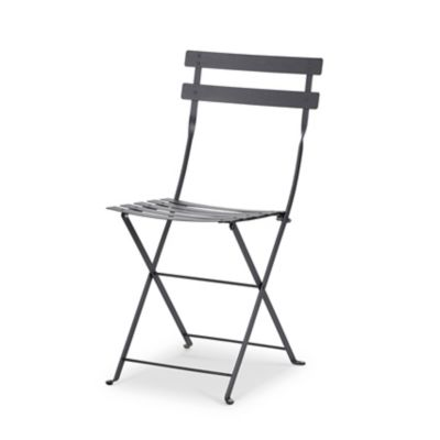 chaise de jardin en metal fermob bistro carbone