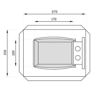 Coffre Fort Electronique Technomax Gt 1 Petit Format 5l Castorama