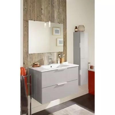 colonne de salle de bains grise noube