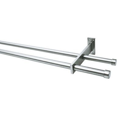 ensemble barre a rideau extensible colours double arcole chrome 155 280 cm