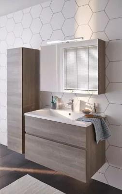 ensemble de salle de bains calao 90 cm clair plan resine
