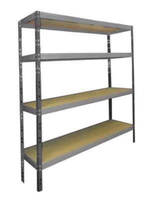 etagere en metal grise l 180 x p 60 x h 180 cm
