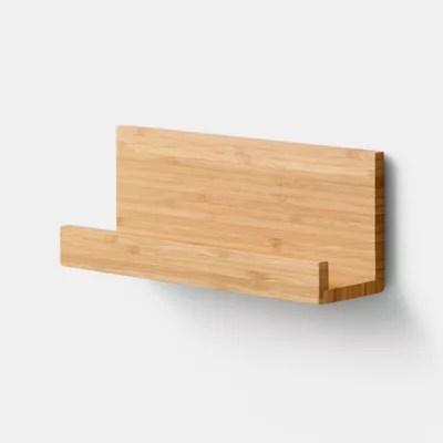 etagere magnetique goodhome pecel bambou l 25 x p 10 cm