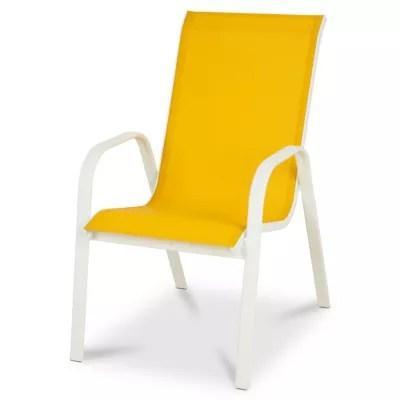 fauteuil de jardin metal et toile blooma janeiro golden rod