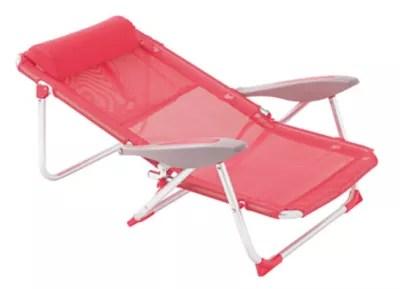 fauteuil de plage rio rose ou vert