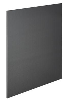 fond de hotte inox brosse noir 60 x 70 cm