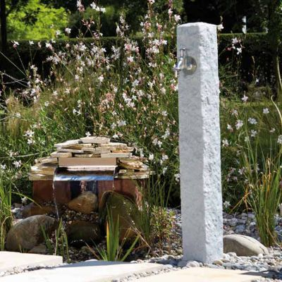 fontaine granit gris clair