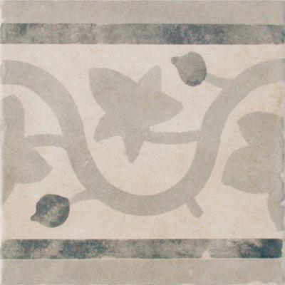 Frise Sol Et Mur Decor Blanc Gris 20 X 20 Cm 1930 Castorama