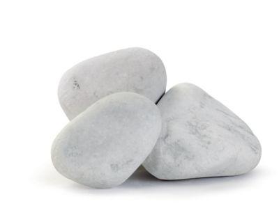 galet marbre blanc 100 200 blooma 15kg