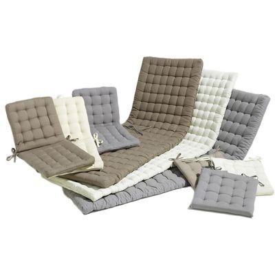 galette de chaise carree bao taupe 40 x 40 cm