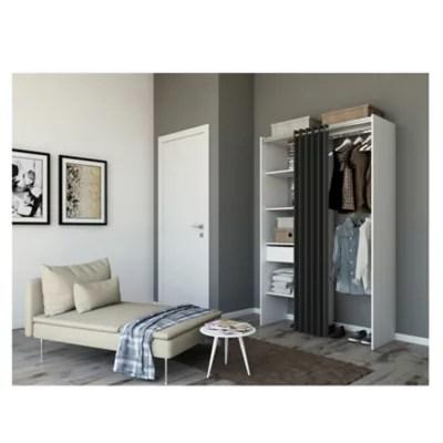 kit dressing zenit coloris blanc h 200 x l 180 x p 48 cm