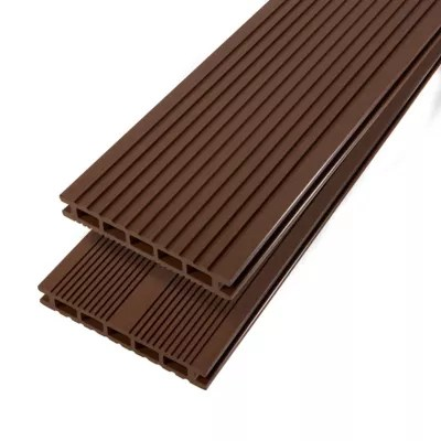 lame de terrasse composite brun blooma neva l 220 x l 14 5 cm