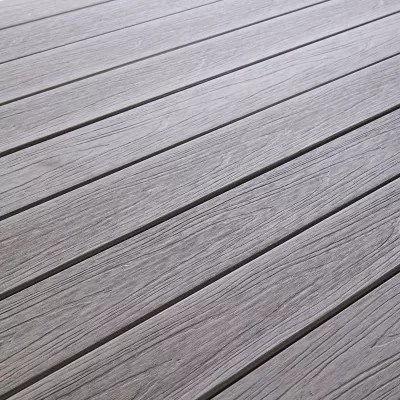 Lame De Terrasse Composite Gris Blooma Hudson L 240 X L 12 7 Cm Castorama