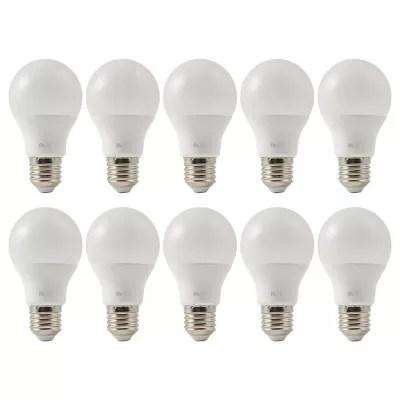Lot 10 Ampoules Led Diall E27 60w Blanc Neutre Castorama