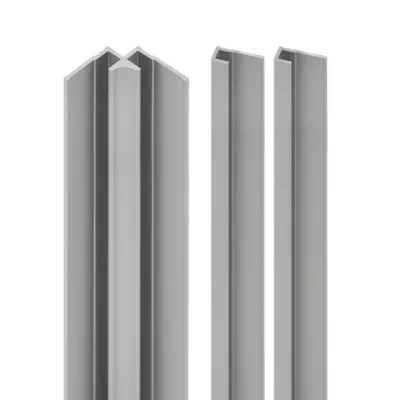 lot de 2 profiles de finition 1 profile d angle interieur pour panneaux muraux schulte decodesign alu argente
