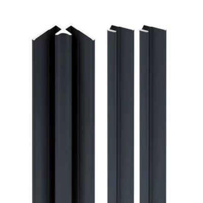 lot de 2 profiles de finition 1 profile d angle interieur pour panneaux muraux schulte decodesign anthracite