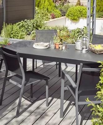 lot table de jardin sumatra 4 chaises de jardin batz 2 fauteuils de jardin batz