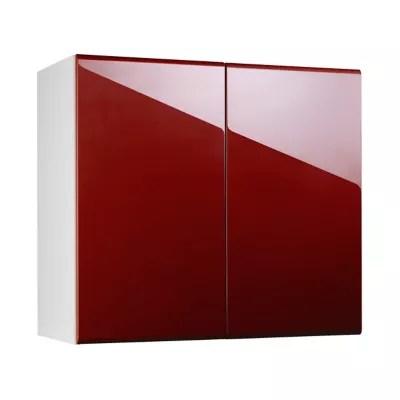 meuble de cuisine globe rouge facade 1 porte l 90 cm caisson haut