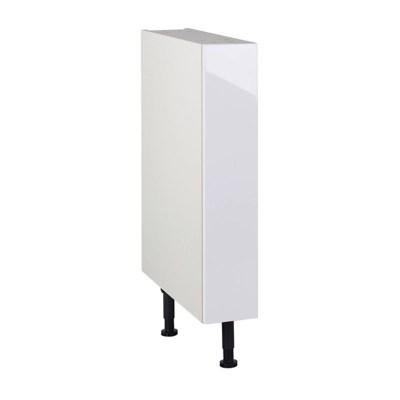 meuble de cuisine gossip blanc facade 1 porte caisson bas l 15 cm