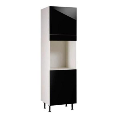 meuble de cuisine gossip noir facades 2 portes bandeau four caisson colonne l 60 cm