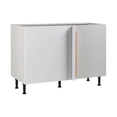 meuble de cuisine ice blanc d angle facade 1 porte kit fileur caisson bas l 60 cm