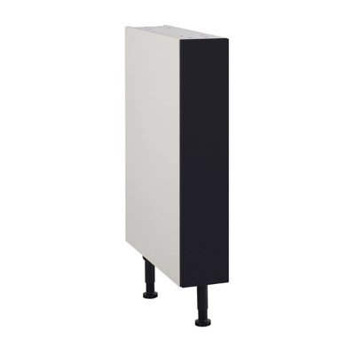 meuble de cuisine kadral noir facade 1 porte caisson bas l 15 cm