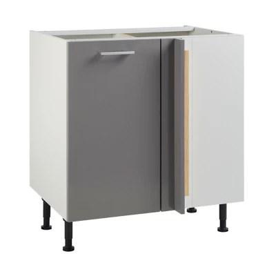meuble de cuisine spicy gris d angle facade 1 porte kit fileur caisson bas l 80 cm