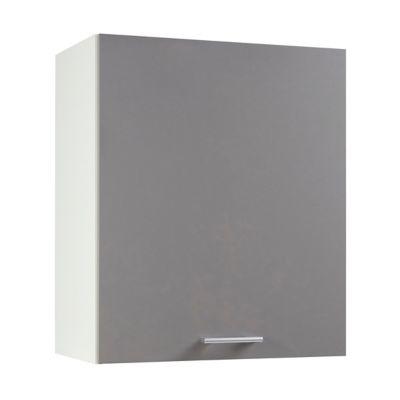 meuble de cuisine spicy gris facade 1 porte caisson haut l 60 cm