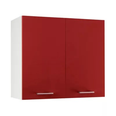 meuble de cuisine spicy rouge facade 1 porte caisson haut l 80 cm