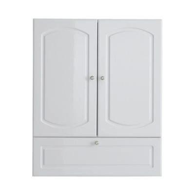meuble haut blanc brillant castorama rimini 60 cm