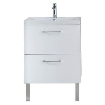 meuble sous vasque blanc 2 tiroirs cooke lewis mica 60 cm