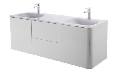 Cooke lewis colonne de salle de bains blanc brillant ceylan user. Meuble Sous Vasque Gris Cooke Lewis Ceylan 140 Cm Castorama