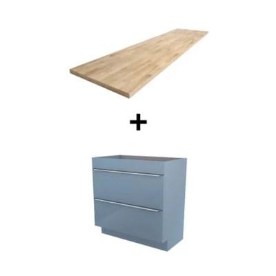 meuble sous vasque a poser goodhome imandra bleu 80 cm plan de toilette hartland