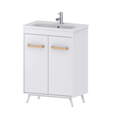 Meuble Sous Vasque A Poser Goodhome Ladoga Blanc 60 Cm Plan Vasque Towan Castorama