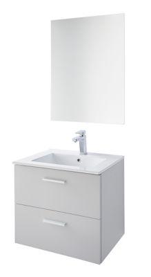Meuble Sous Vasque A Suspendre Gris Mat Plan Vasque Miroir Splaton Castorama