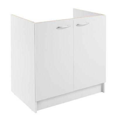 meuble sous evier 2 portes blanc primalight 80 cm