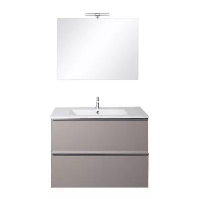 meubles salle de bains taupe 81 cm hola