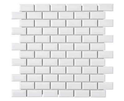 Mosaique Mur Mini Metro Blanc 30 X 30cm Castorama